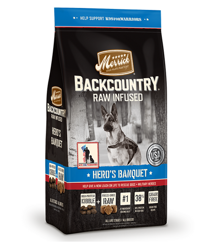 Merrick's Backcountry Raw Infused Hero's Banquet Dog Food