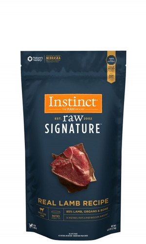 Instinct RAW Signature Frozen Lamb Patties 6lb
