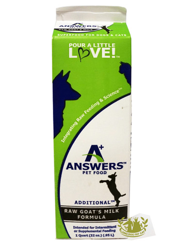 Answers Raw Frozen Goat Milk for Dogs and Cats