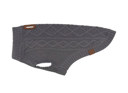 RCPets Charcoal Cable Dog Sweater