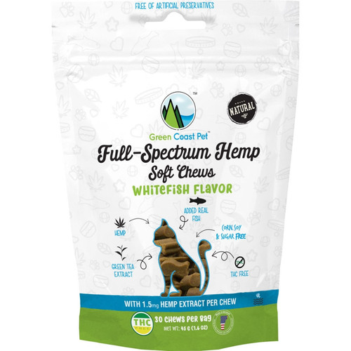 Full-Spectrum Hemp Soft Chew for Cats Whitefish