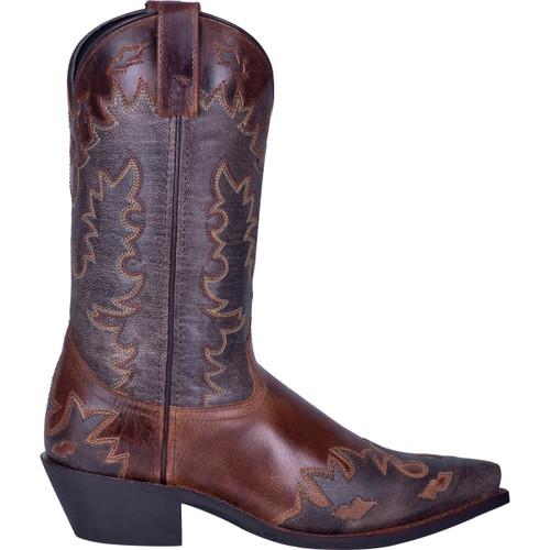 Laredo Men's Nash Leather Snip Toe Boot - Chocolate