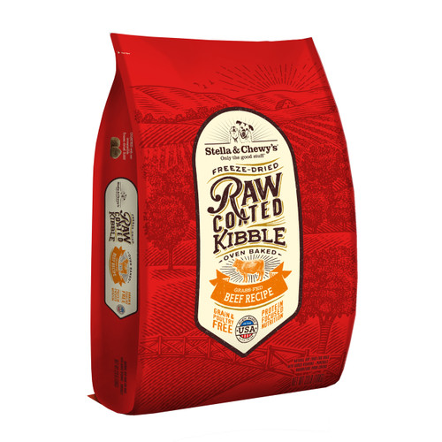 Stella and Chewy's Grass-Fed Beef Raw Coated Kibble 22lbs