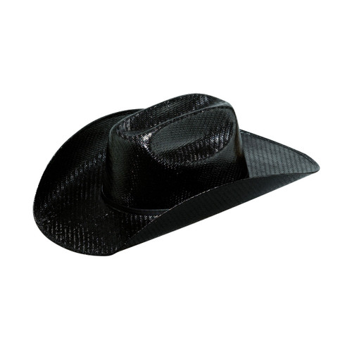 M & F Western Twister Kids Black Straw Hat