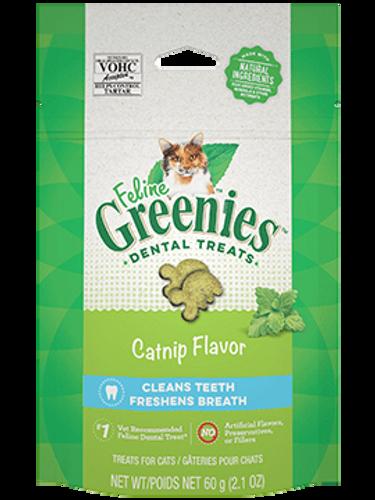 Feline Greenies Catnip flavored Dental Treats 2.1oz