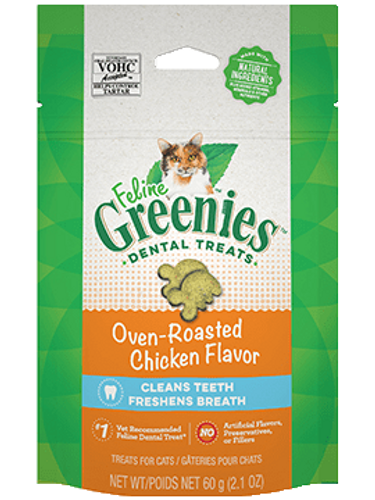 Feline Greenies Roasted Chicken Dental Treats 2.1oz