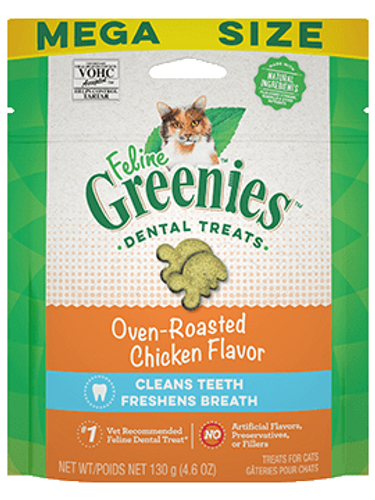 Feline Greenies Roasted Chicken Dental Treats 4.6oz