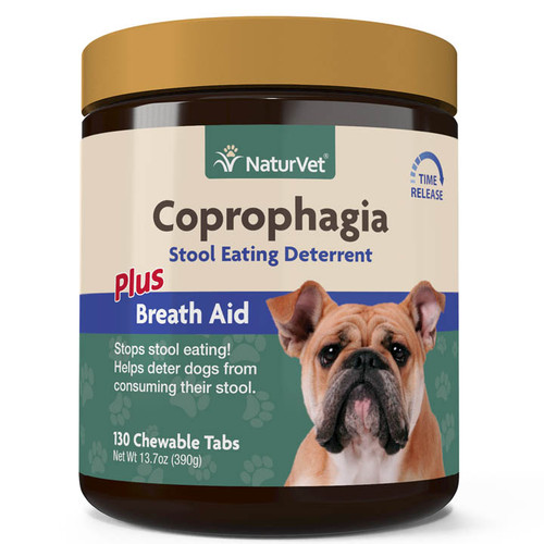 NaturVet Coprophagia Stool Eating Deterrent Chewable Tablets 130ct