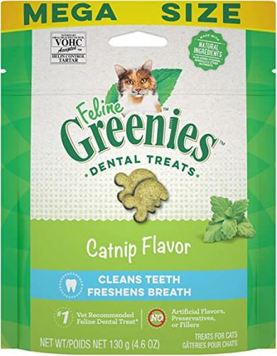 Feline Greenies Dental Treats Catnip Flavor 4.6oz