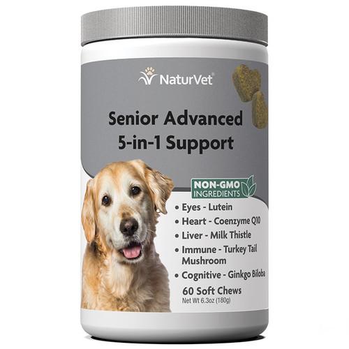 NaturVet Senior Advanced 5 -in -1 Support Soft Chews