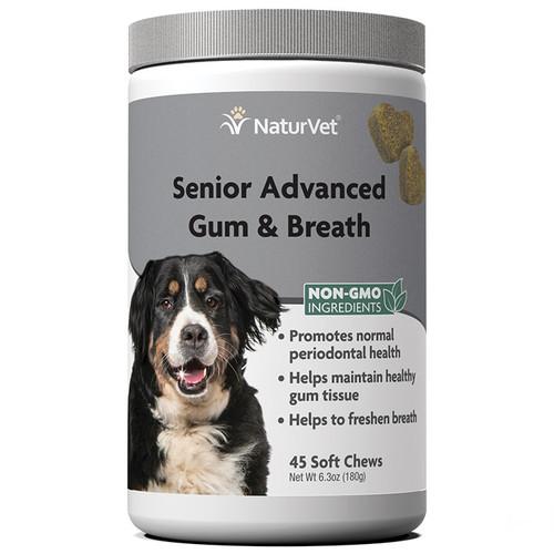 NaturVet Senior Advanced Gum and Breath Soft Chews - 45 count