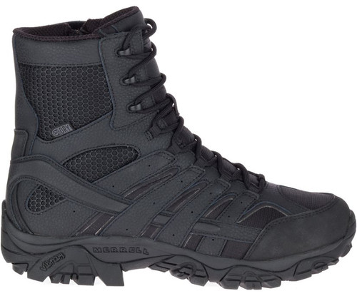 """Merrell Moab 2 8"""" Tactical Waterproof Black Men's Boot"""