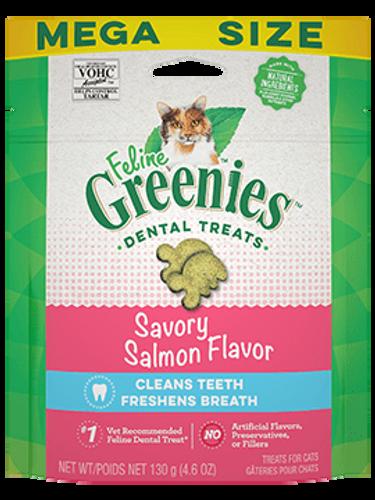 Feline Greenies Dental Treat Savory Salmon Flavor 4.6oz