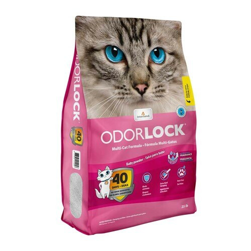 Intersand Odourlock Ultra Premium Baby Powder Scented Clumping Cat Litter