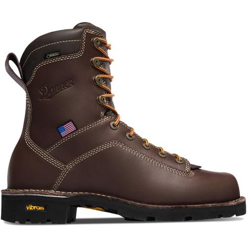 """Danner Men's Quarry USA 8"""" Alloy Toe Waterproof Work Booot"""