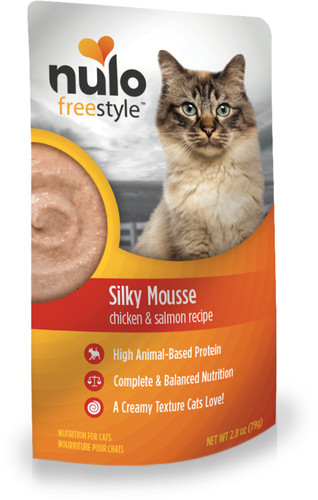 Nulo FreeStyle Grain Free Silky Mousse - Chicken and Salmon 2.8oz