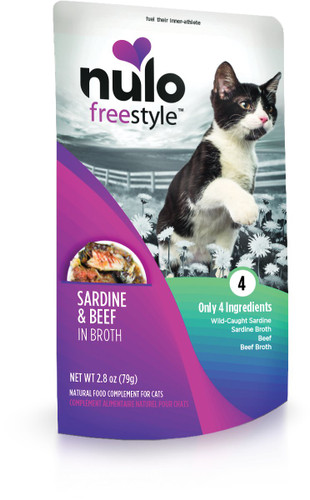 Nulo FreeStyle Grain Free Sardine and Beef in Broth 2.8oz