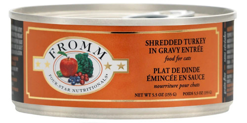 Fromm Shredded Turkey in Gravy Cat Food 5.5oz