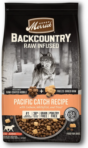 Merrick Backcountry Raw Infused Pacific Catch Recipe Dog Food 10lb