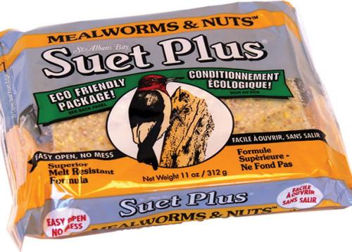 Suet Plus Mealworm & Nut Cake 11oz