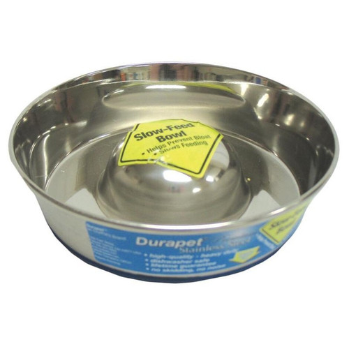 OurPets Co. Slow Feed Bowl Stainless Small