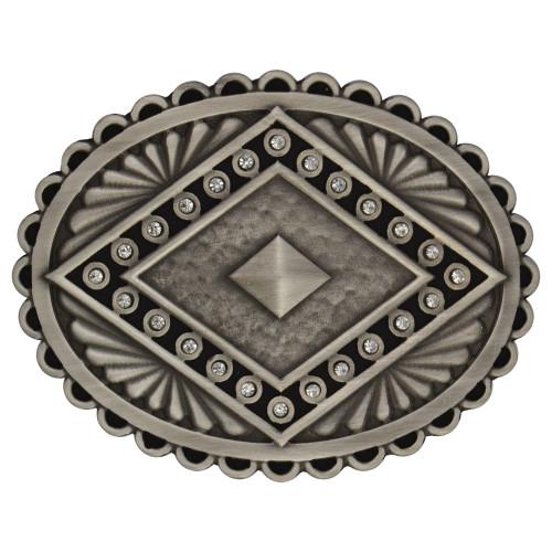 Rock 47® Points of Aztec Silver Pyramid Attitude Buckle
