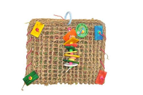 Happy Beaks Vine Mat Forage Pouch Bird Toy