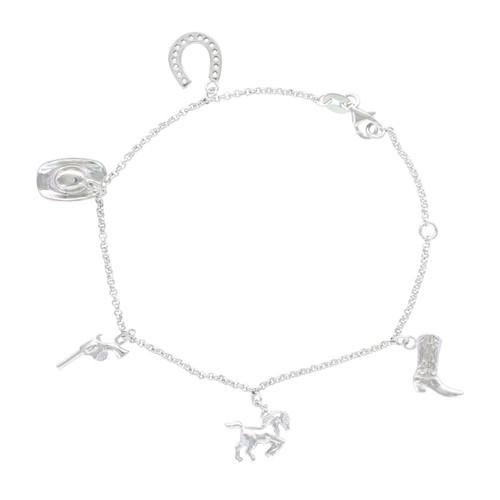 Montana Silversmiths Symbols of the West Charm Bracelet