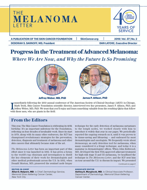 The Melanoma Letter Vol 37 Issue 2 (FREE Download)