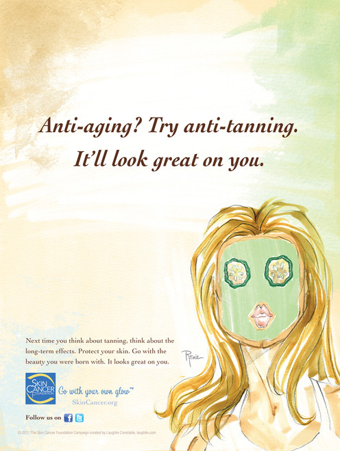 Anti-aging? Try anti-tanning. It'll look great on you.