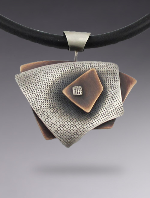 Small Rectangle 3 Layer Pendant