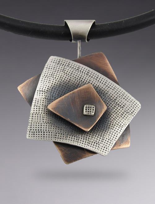 Squares 3 Layer Pendant