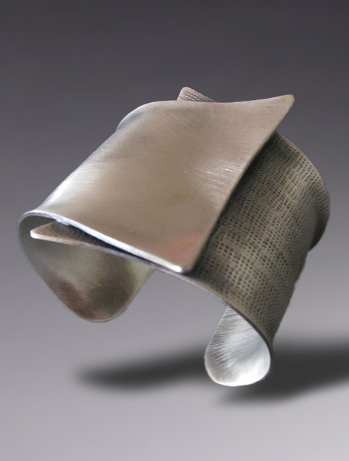 """Crossing"" Sterling Silver Cuff"