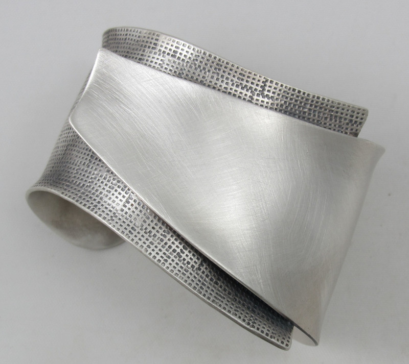 """""""Reduction"""" Sterling Silver Cuff"""