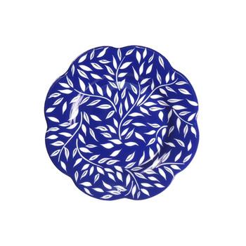 """Royal Limoges Olivier Blue All Over Dessert plate 8.5"""""""