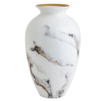 "Prouna Marble Venice Fog 12"" Urn Vase"