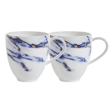 Prouna Marble Azure - Barrel Mug, Set of 2
