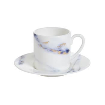 Prouna Marble Azure - Espresso Cup & Saucer