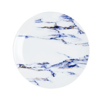 "Prouna Marble Azure - 8.5"" Salad / Dessert Plate"