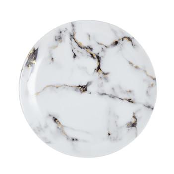 "Prouna Marble Venice Fog - 8.5"" Salad / Dessert Plate"