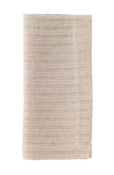 """Bodrum Basket Weave Linen Napkin 22"""" - Oatmeal"""