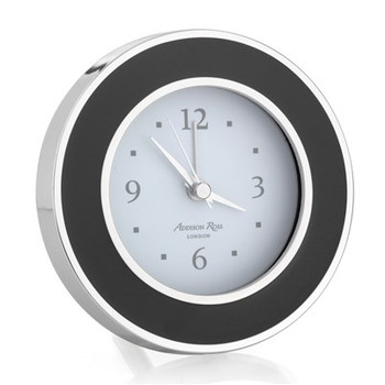 Addison Ross Black Enamel Alarm Clock