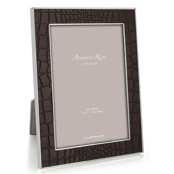 "Addison Ross Faux Croc Frame - Chocolate - 4""x6"""