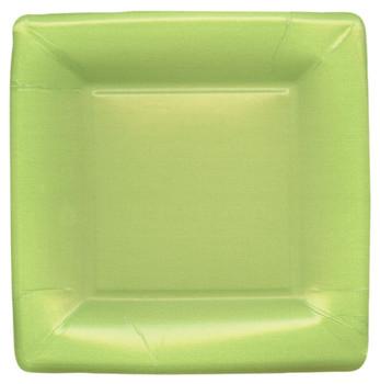 Caspari Grosgrain Border Green Salad Plate