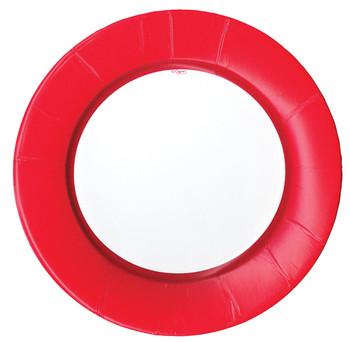 Caspari Linen Red Dinner Plate