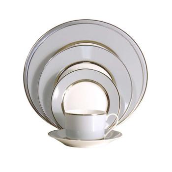 Royal Limoges Mak Grey Platinum Relish Dish