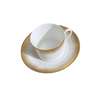 Royal Limoges Golden Fire Coffee Saucer