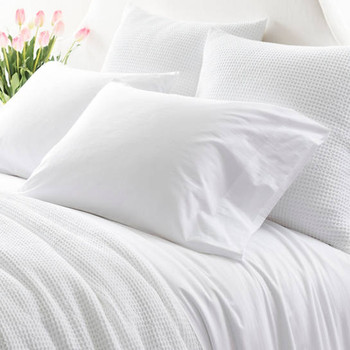 Pine Cone Hill Bed 101 Essential Percale Pillowcases - White
