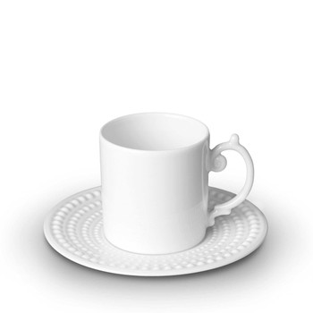L'Objet Perlee Expresso Cup & Saucer