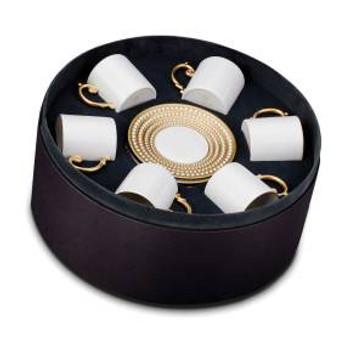 L'Objet Perlee Espresso Cup & Saucer - Set of 6